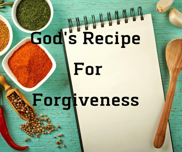 Recipe for Forgiveness